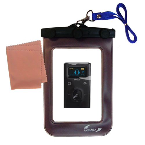 Waterproof Case compatible with the RCA M2104 M2204 Lyra to use underwater