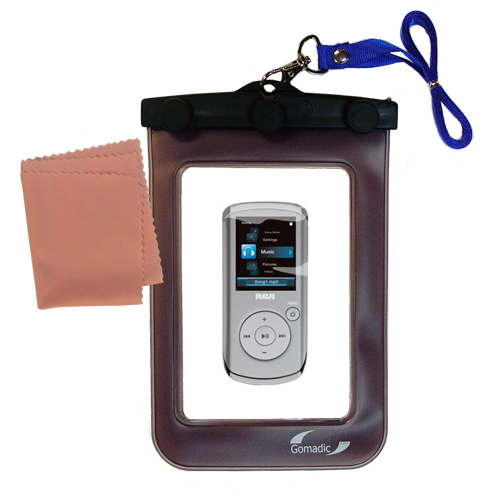 Waterproof Case compatible with the RCA M4108 Digital Music Player to use underwater