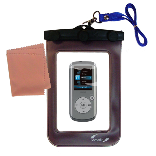 Waterproof Case compatible with the RCA M4202 OPAL Digital Media Player to use underwater