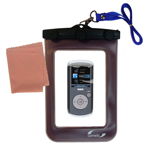 Waterproof Case compatible with the RCA M4208 OPAL Digital Media Player to use underwater