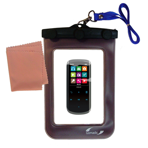 Waterproof Case compatible with the RCA M4608 Lyra Digital Media Player to use underwater