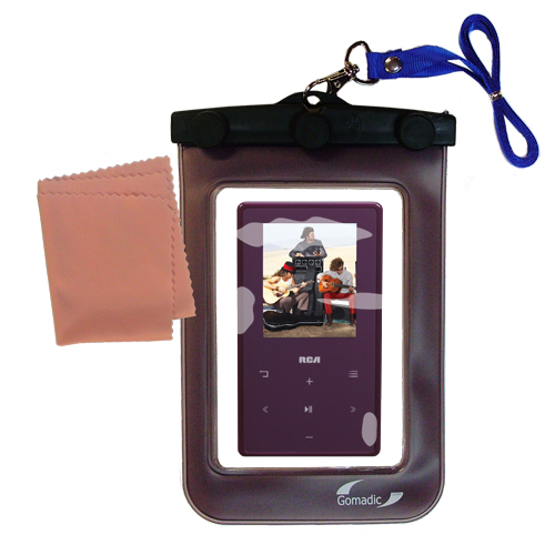 Waterproof Case compatible with the RCA M6308 to use underwater