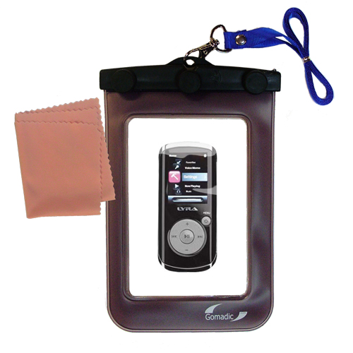 Waterproof Case compatible with the RCA MC4204 OPAL Digital Media Player to use underwater