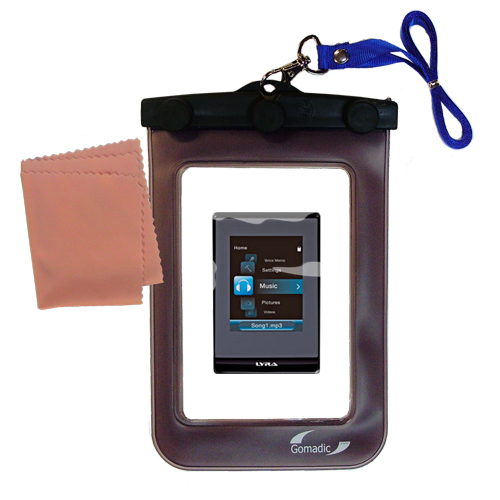 Waterproof Case compatible with the RCA SLC5016 LYRA Slider Media Player to use underwater
