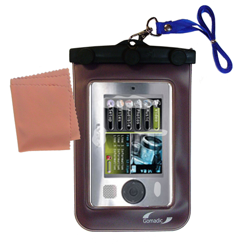 Waterproof Case compatible with the RCA X3000 LYRA Media Player to use underwater