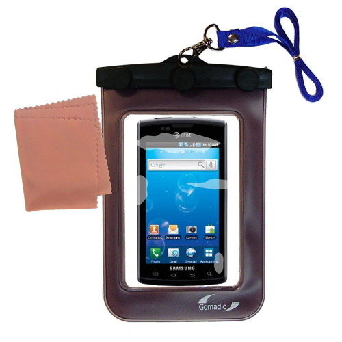 Gomadic clean and dry waterproof protective case suitablefor the Samsung Captivate  to use underwater - Unique Floating Design