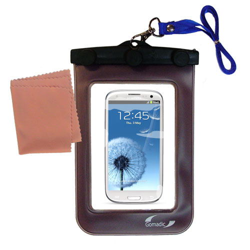 Waterproof Case compatible with the Samsung Galaxy S III to use underwater