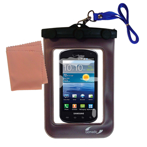Gomadic clean and dry waterproof protective case suitablefor the Samsung Stratosphere  to use underwater - Unique Floating Design
