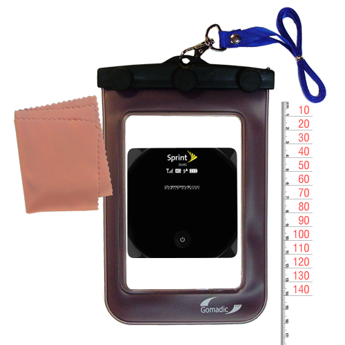 Waterproof Case compatible with the Sierra Wireless AirCard W801 Mobile Hotspot to use underwater
