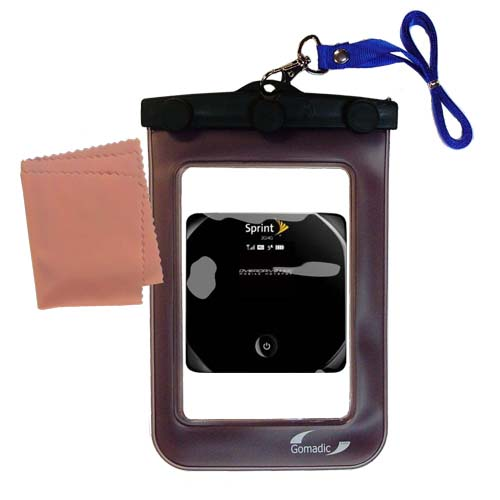 Waterproof Case compatible with the Sierra Wireless Overdrive 3G/4G Mobile Hotspot to use underwater