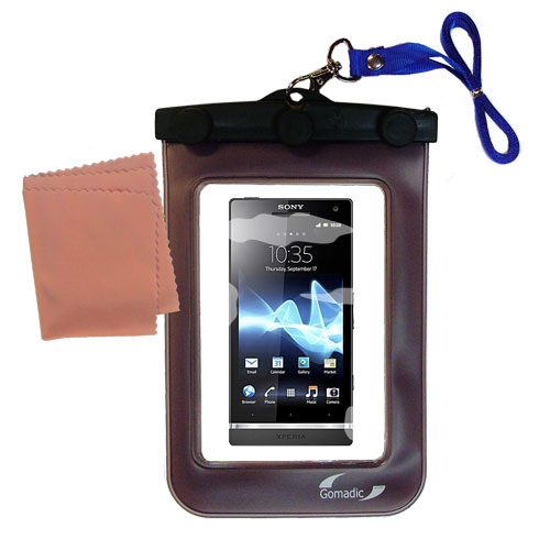 Waterproof Case compatible with the Sony Ericsson Xperia S to use underwater