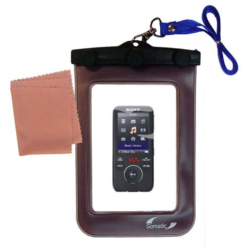 Waterproof Case compatible with the Sony Walkman NWZ-E438F to use underwater