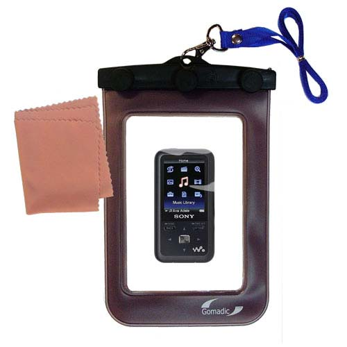 Waterproof Case compatible with the Sony Walkman NWZ-S616 to use underwater