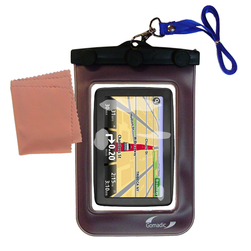 Waterproof Case compatible with the TomTom VIA 1500 to use underwater