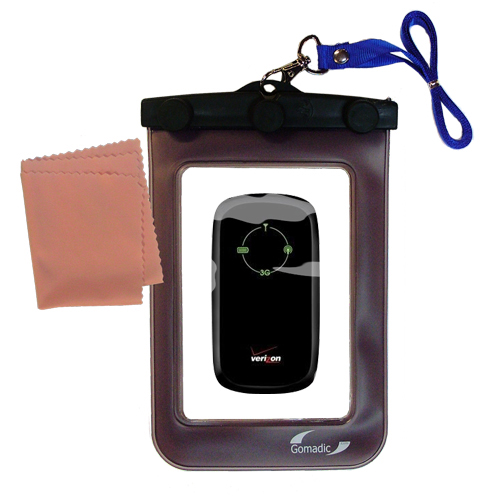 Waterproof Case compatible with the Verizon Fivespot 3G Mobile Hotspot to use underwater