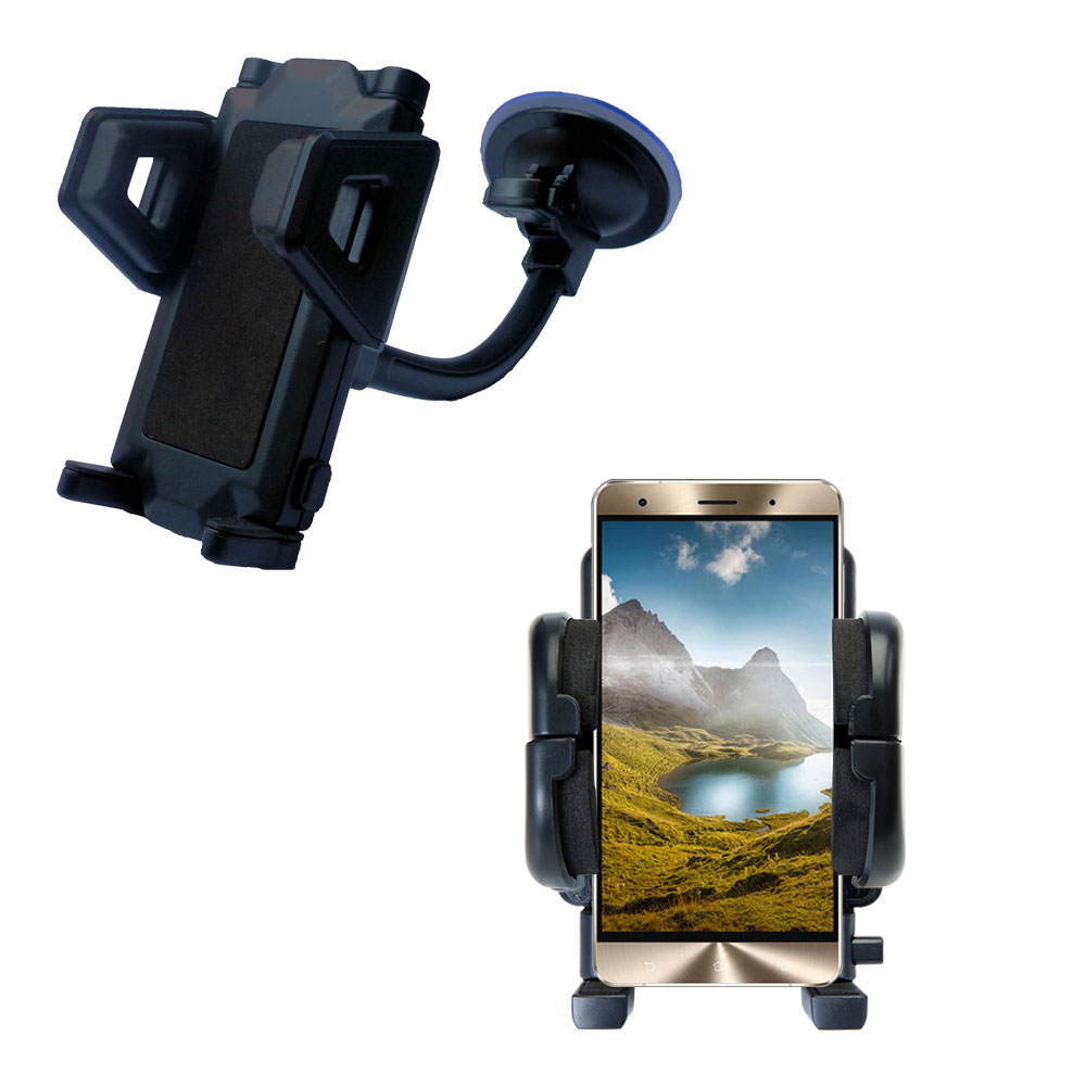 Windshield Holder compatible with the Asus Zenfone 3 Deluxe