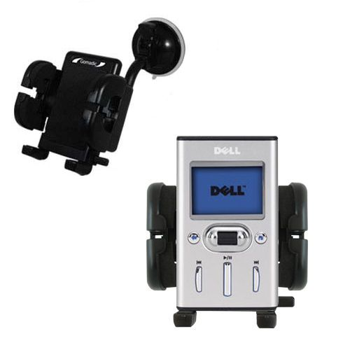 Windshield Holder compatible with the Dell Pocket DJ 20GB 30GB