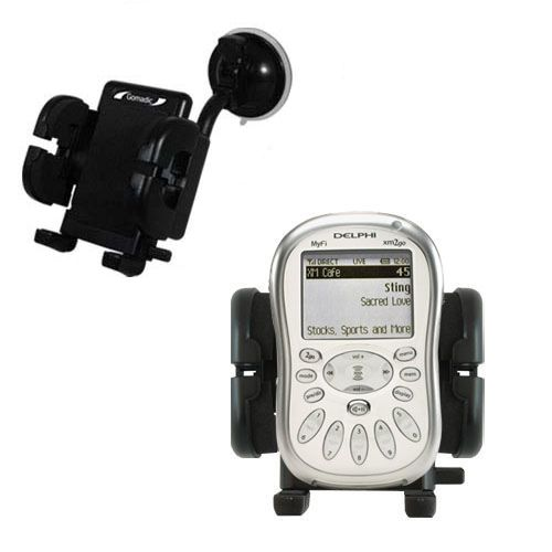 Windshield Holder compatible with the Delphi MyFi XM2 Go