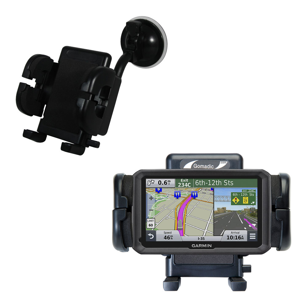 Windshield Holder compatible with the Garmin dezl 570 LMT