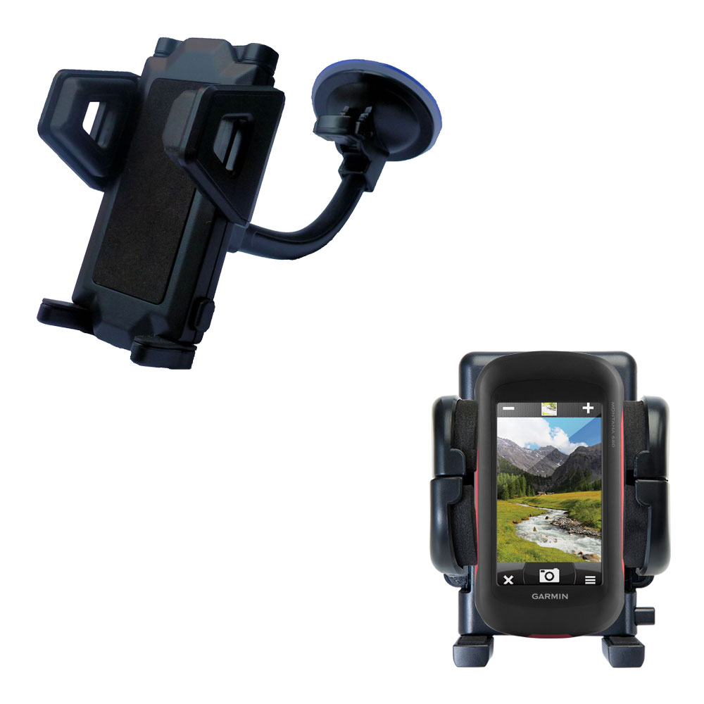 Windshield Holder compatible with the Garmin Montana 680 / 680t