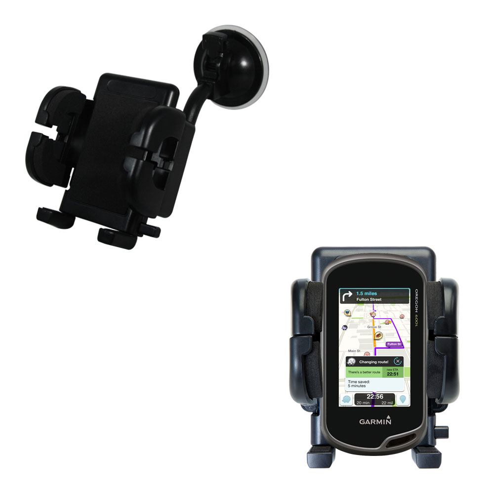Windshield Holder compatible with the Garmin Oregon 600 / 650 / 650t