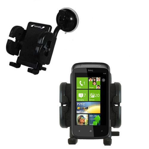 Windshield Holder compatible with the HTC 7 Mozart
