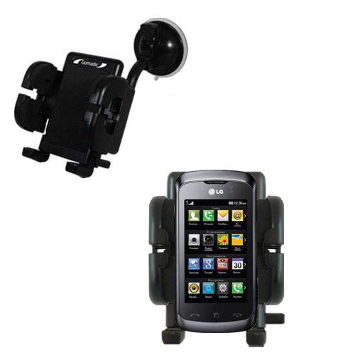 Windshield Holder compatible with the LG KM555E