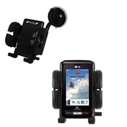 Windshield Holder compatible with the LG KP550 Rip Curl