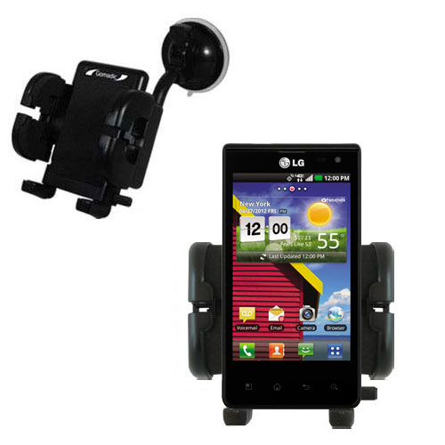 Windshield Holder compatible with the LG Lucid 1 / 2 / 3