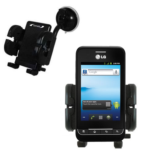 Windshield Holder compatible with the LG Optimus 2