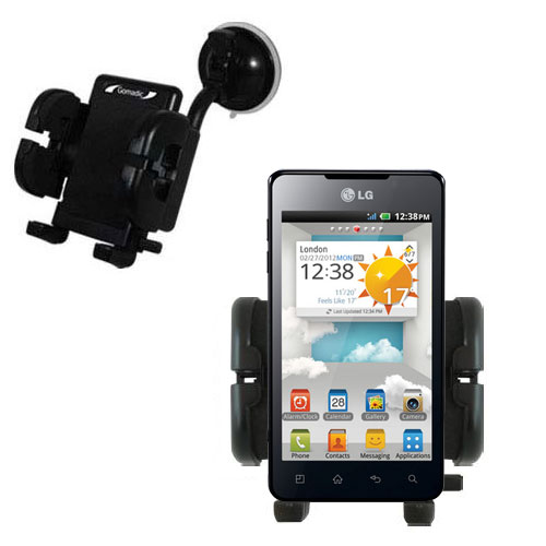 Windshield Holder compatible with the LG Optimus 3D Cube