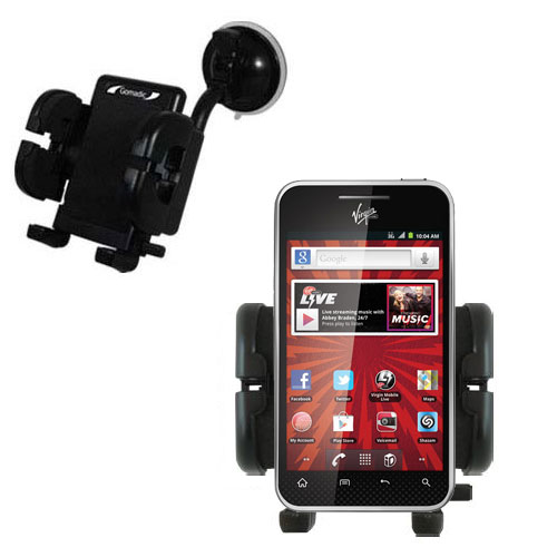 Windshield Holder compatible with the LG Optimus Elite