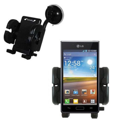 Windshield Holder compatible with the LG Optimus L5