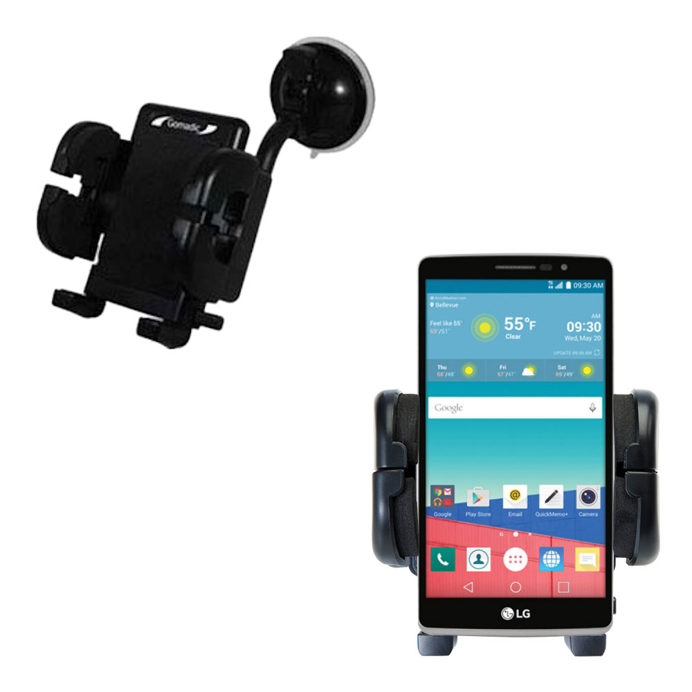 Windshield Holder compatible with the LG Stylo 3