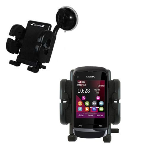 Windshield Holder compatible with the Nokia C2-O2