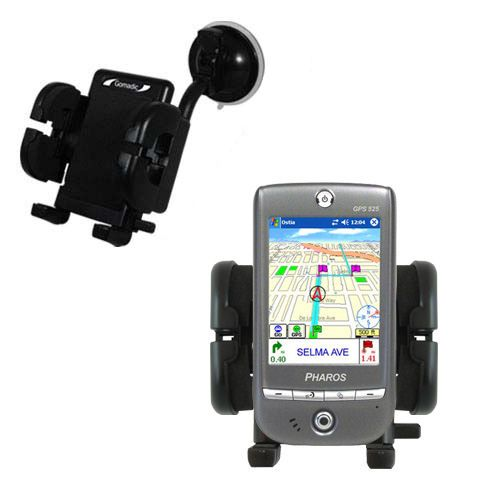 Windshield Holder compatible with the Pharos GPS 525E
