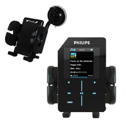 Windshield Holder compatible with the Philips GoGear SA9200/17 Super Slim
