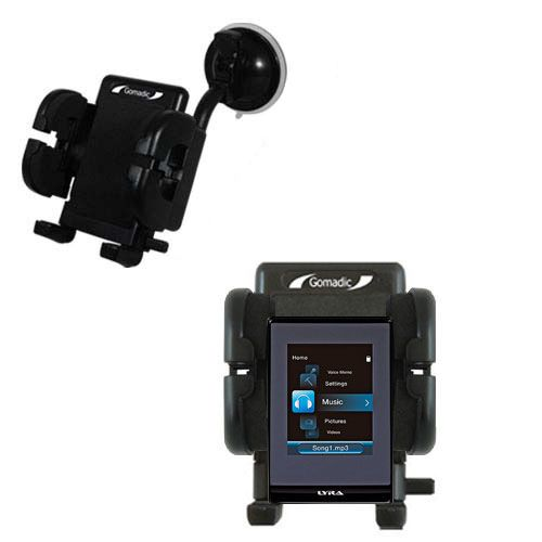Windshield Holder compatible with the RCA SLC5008 LYRA Slider Media Player