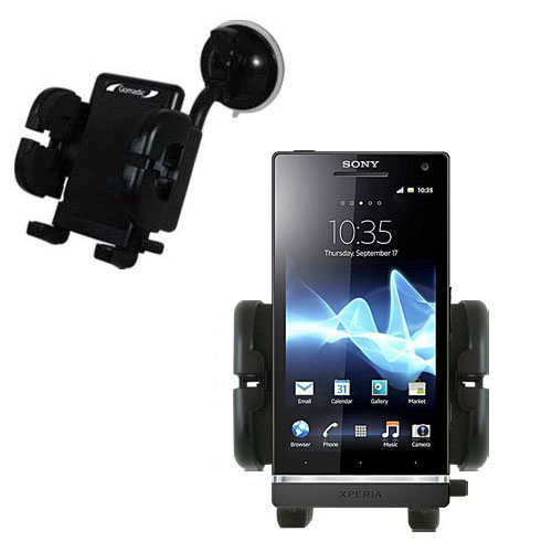 Windshield Holder compatible with the Sony Ericsson Xperia S