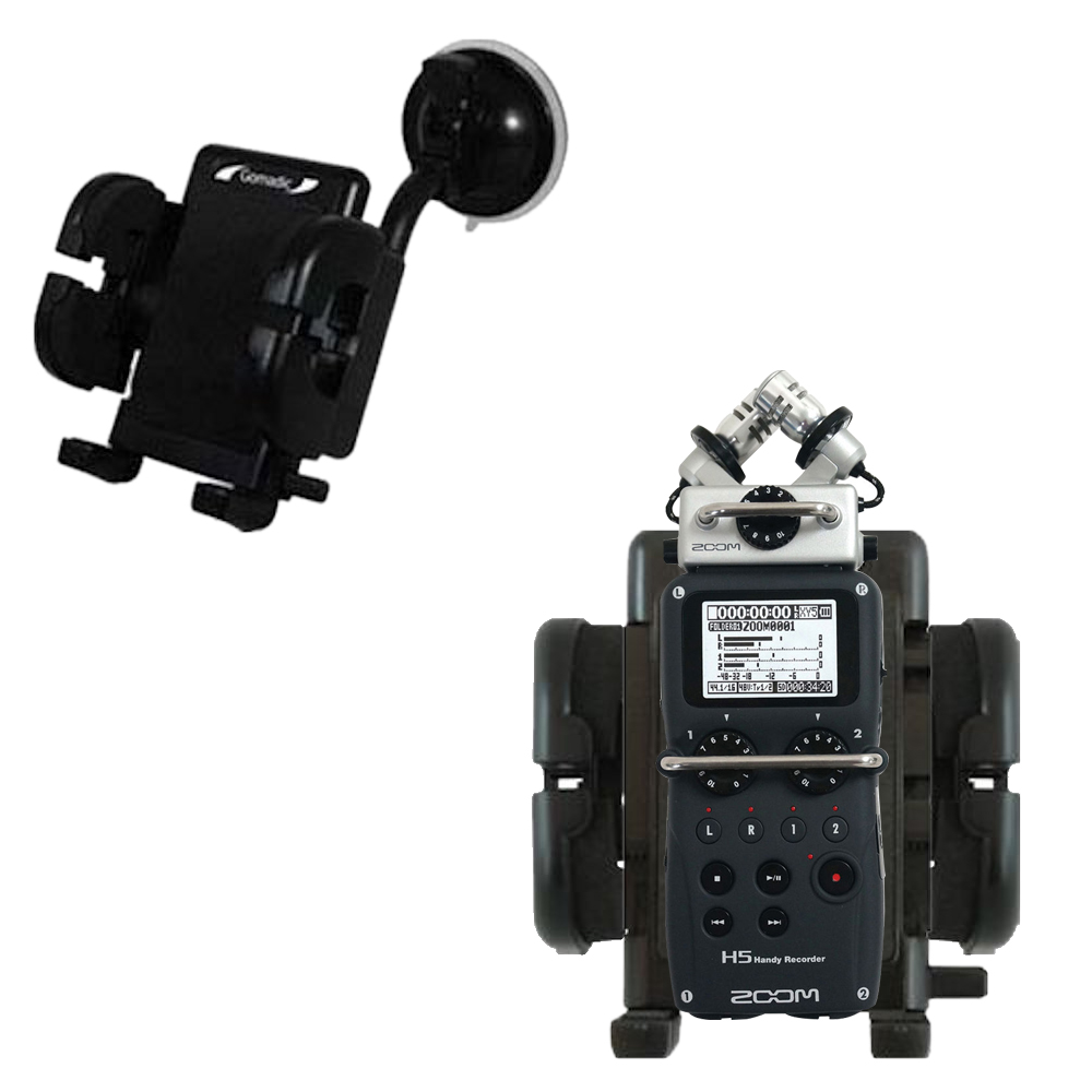 Windshield Holder compatible with the Zoom H5 Handy Recorder