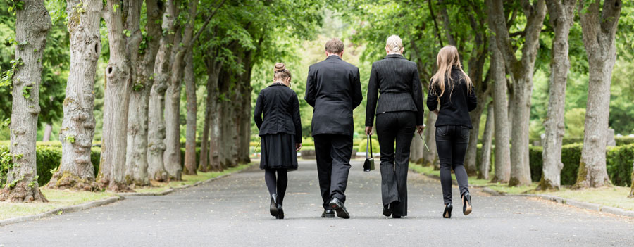 Deceased Family In Funeral Attire