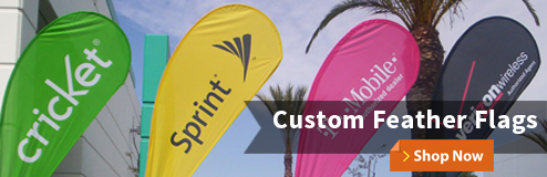 Custom Feather Flags for advertising