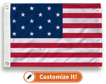 15 Star US Flag