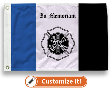 Fireman Mourning Flag