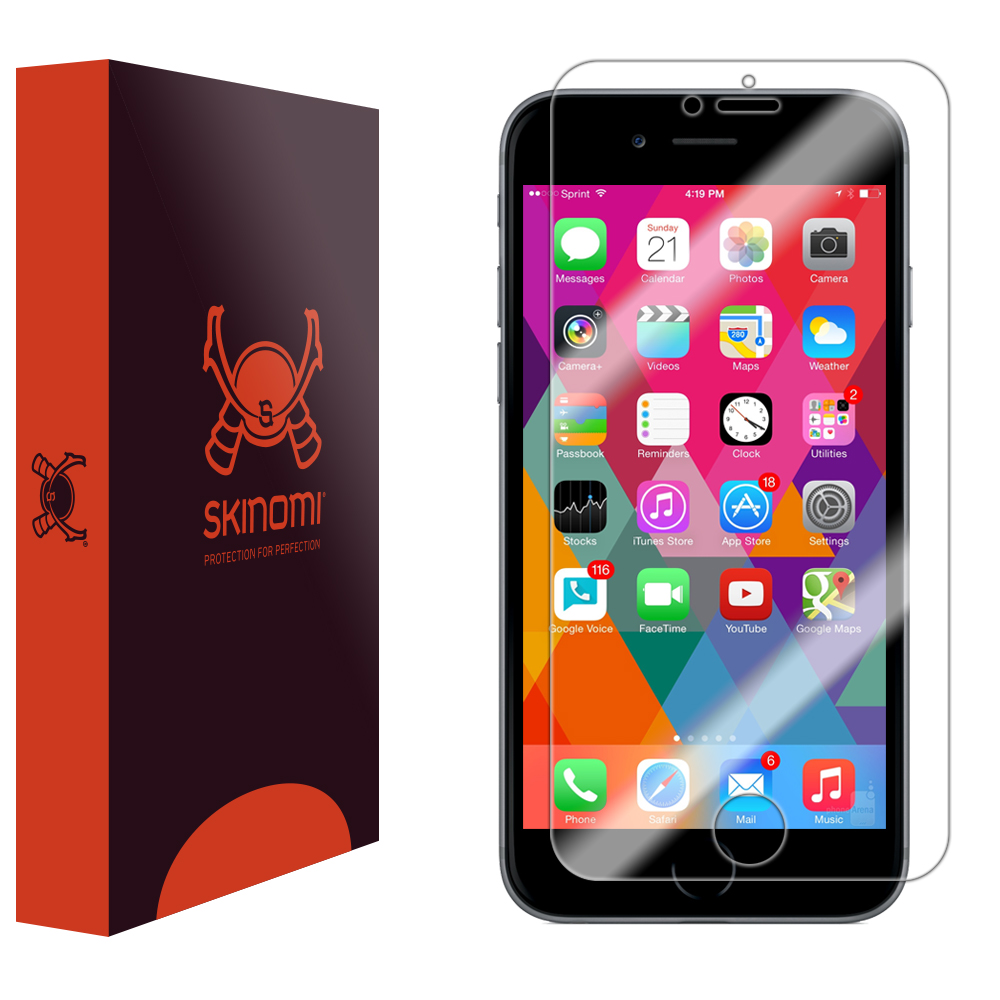 brand new 099c3 6d69e Details about Skinomi TechSkin - Ultra Clear Film Screen Protector for  Apple iPhone 6S (Plus)