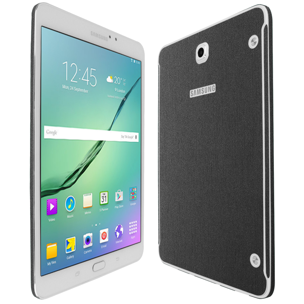 Skinomi Brushed Steel Skin+Clear Screen Protector for Samsung Galaxy Tab 4 8.0