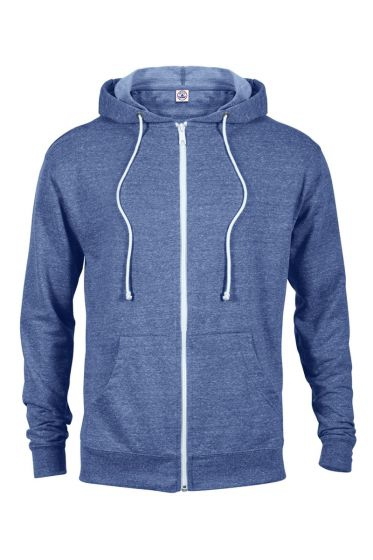 Value 94300 Adult Unisex Snow Heather French Terry Zip Hoodie