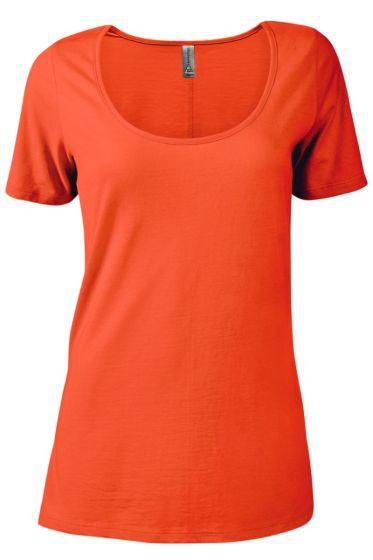Value P504C Ladies CVC Short Sleeve Scoop Neck Tee