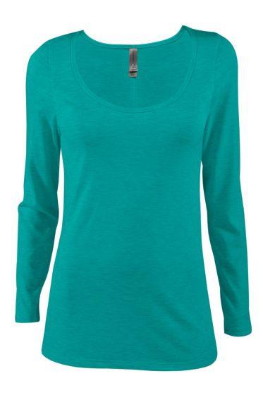 Value P507T Ladies Tri-Blend Long Sleeve Scoop Neck Tee