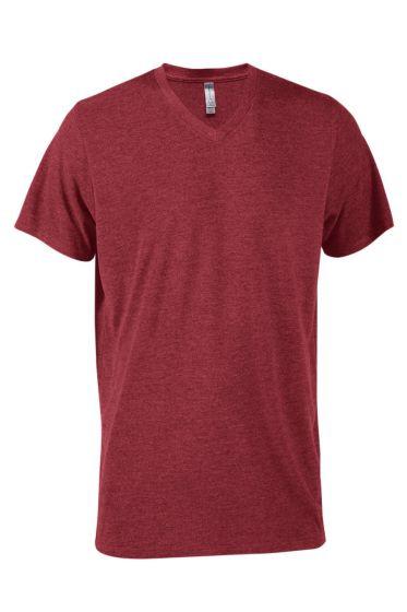 Value P602T Mens Tri-Blend Short Sleeve V-Neck Tee